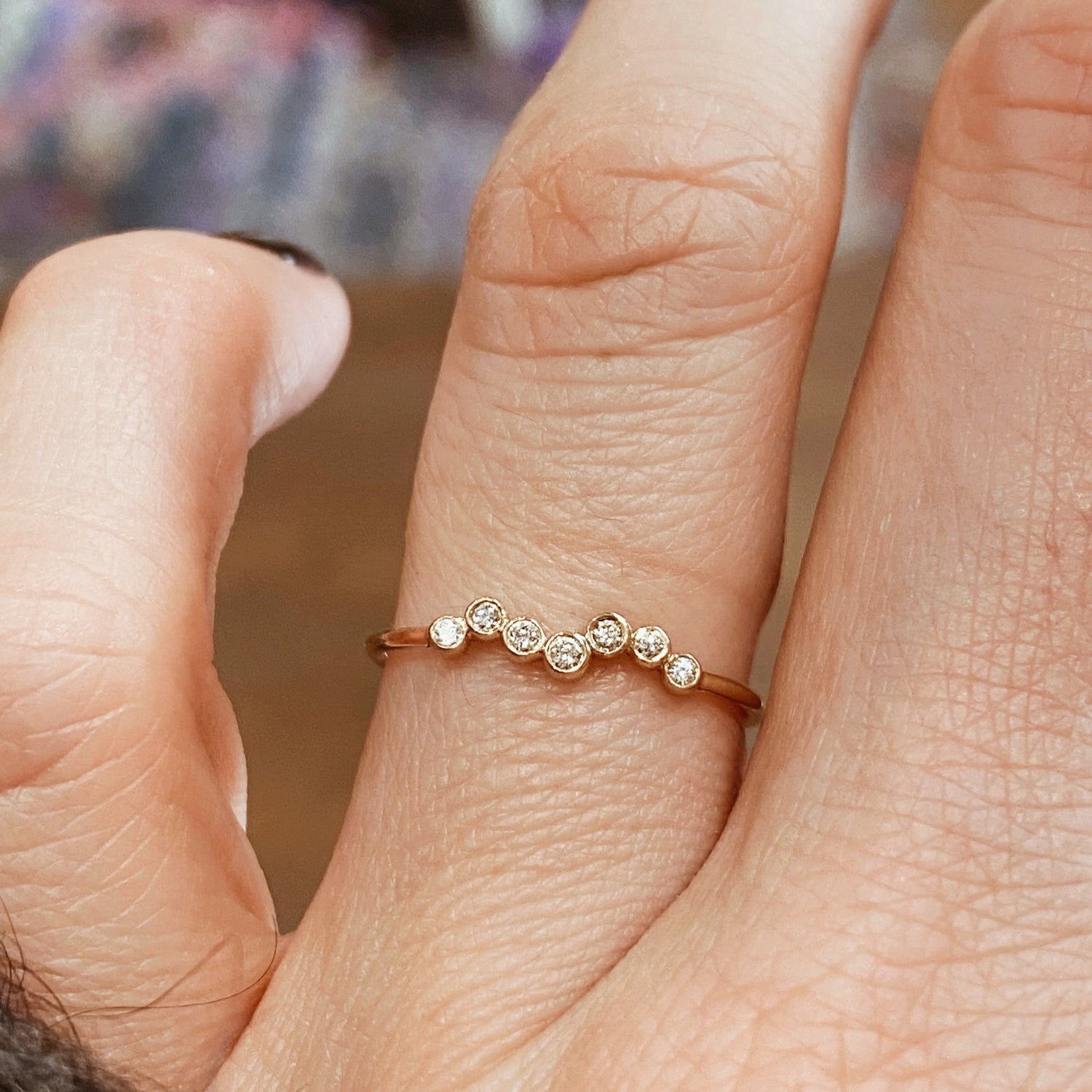 Image of BAGUE DIAMANTS TWISTED.