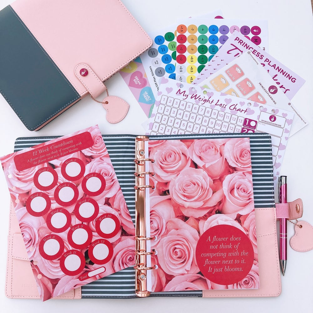 Image of NEW TWO TONE PEACHY PINK FULLY LOADED ORGANISER -A FLOWER DOES NOT THINK OF COMPETING