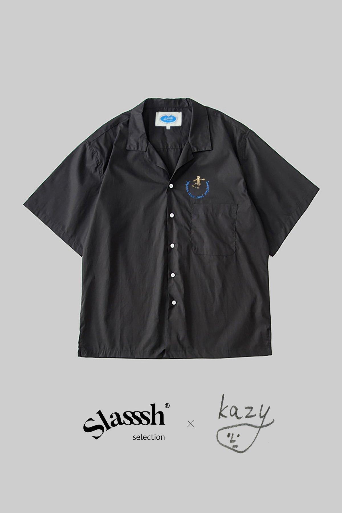 Graphic Embroidery Tee - Kazy Chan x Slasssh Embroidery Shirt