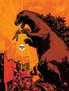 Godzilla Jet Jaguar High Five!(Art Print)