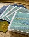 Nonpareil Blues & Grey Swirls Marbled Notecards