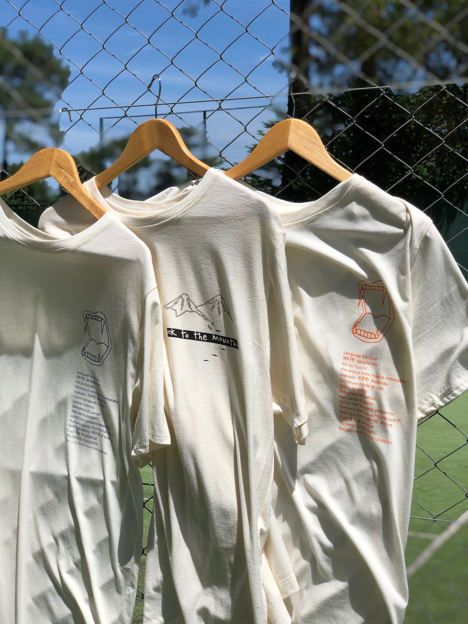 Image of T-Shirt XL  Lenguaje is a virus