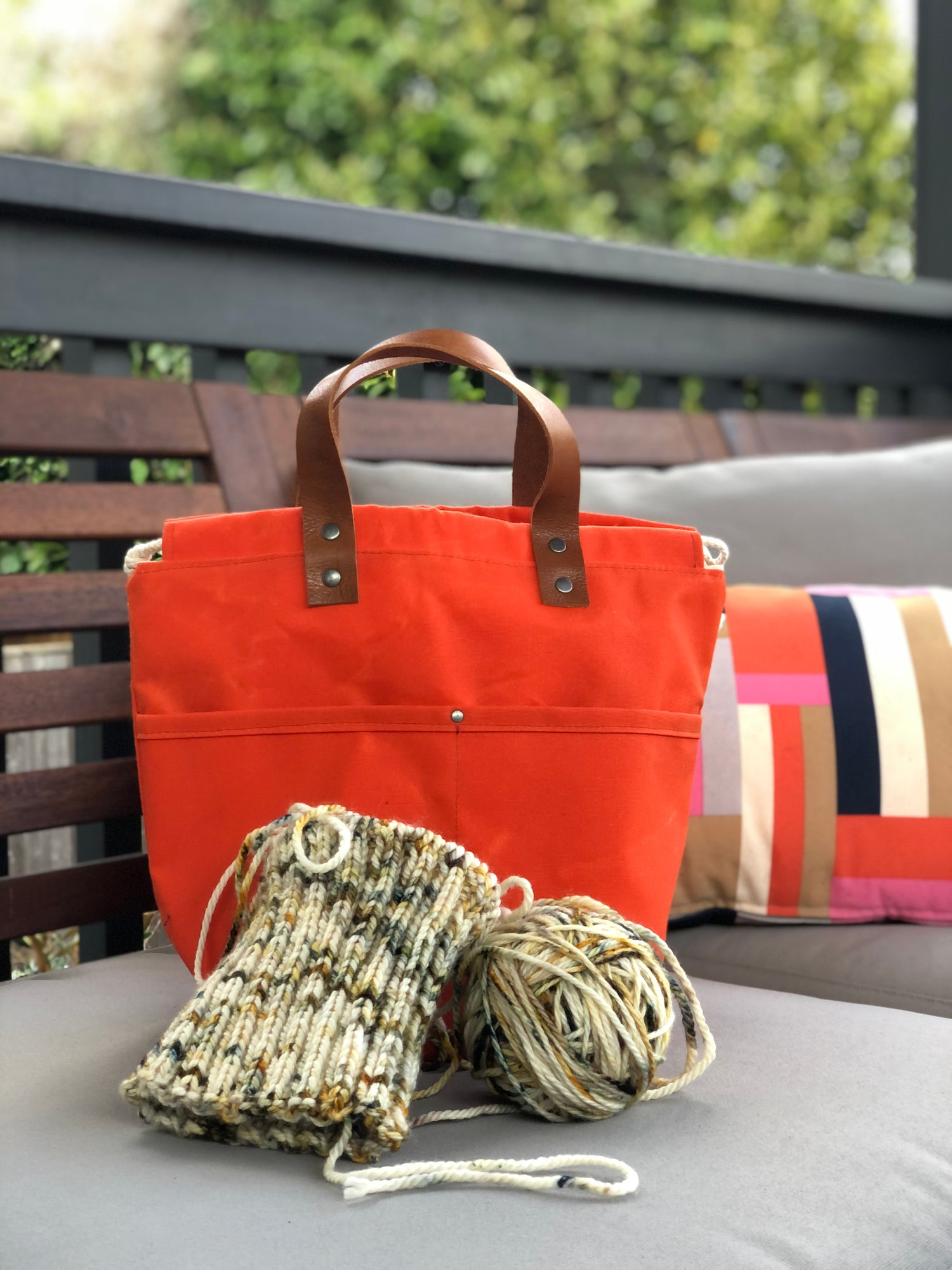 Image of Waxed Tangerine Project Bag