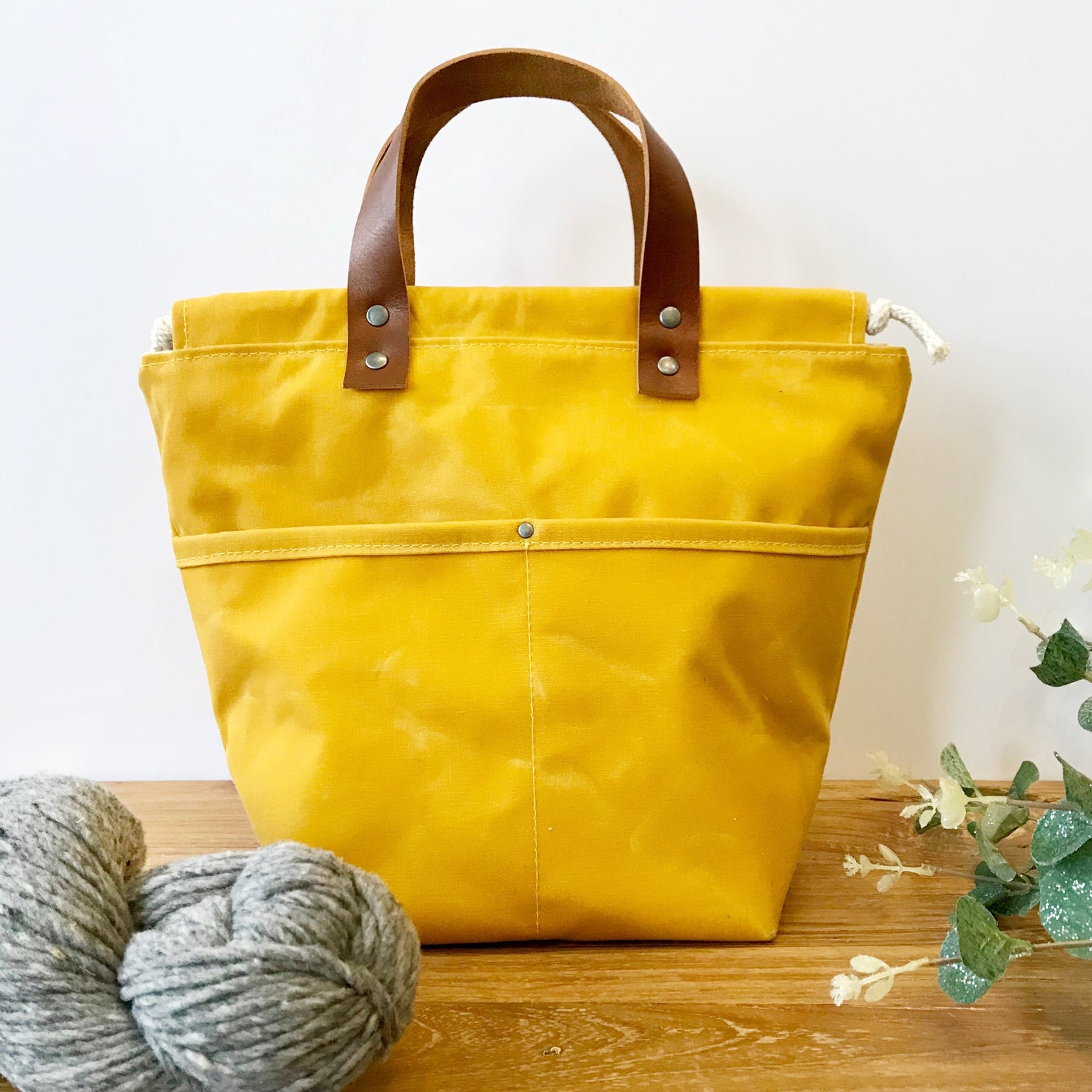 Image of Waxed Mustard Project Bag