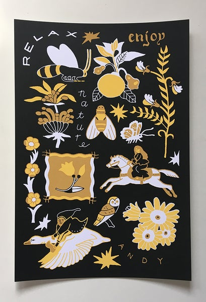 Image of Relax Enjoy Nature Screen Print