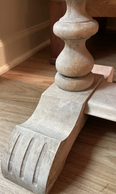 Image of Vintage French Bleached Console Table