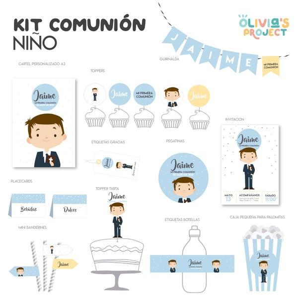 Image of Kit de Comunión Personalizado Niño