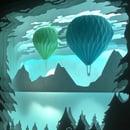 Image 1 of Hot Air Balloon Night Light