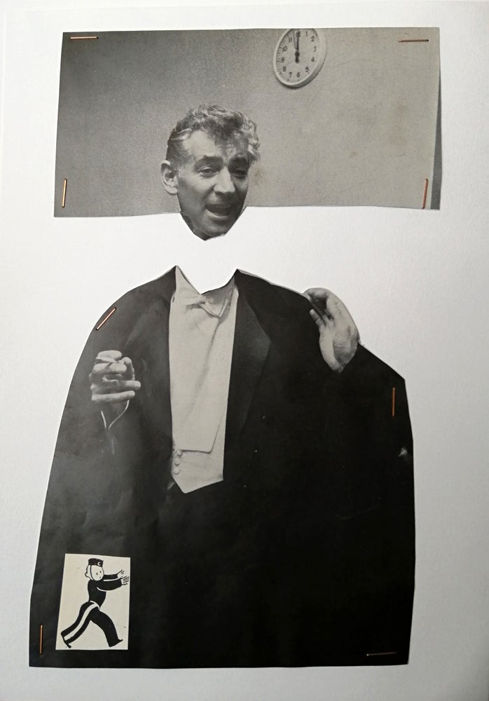 Image of 'Leonard's head leaving his body' (collage
