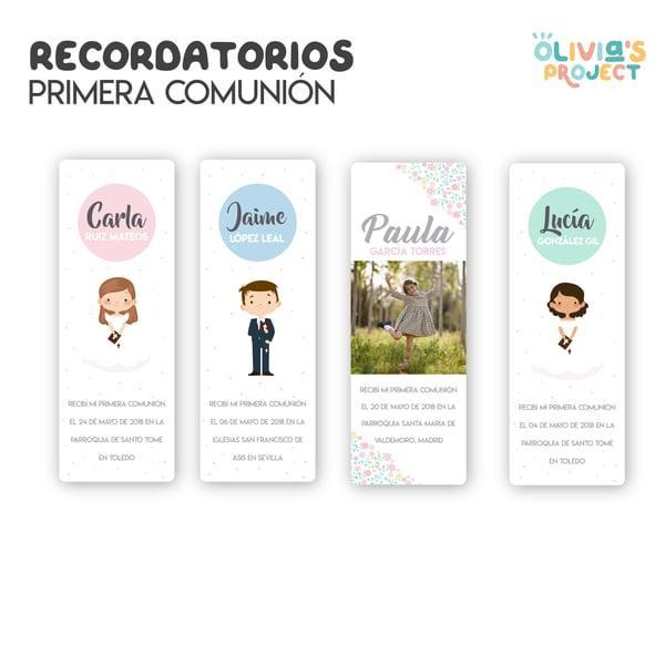 Image of Recordatorios Comunión (Varios Modelos)