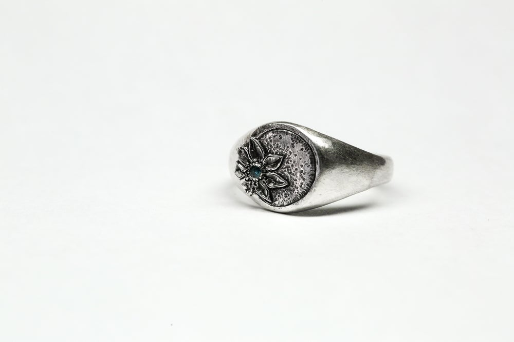 Image of Diamond Flower Signet