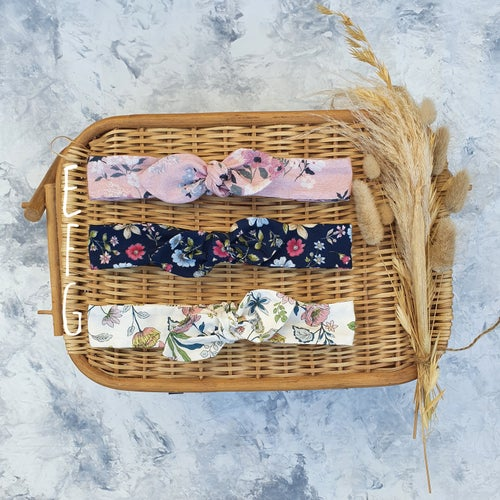 Image of Floral Top knot Headbands