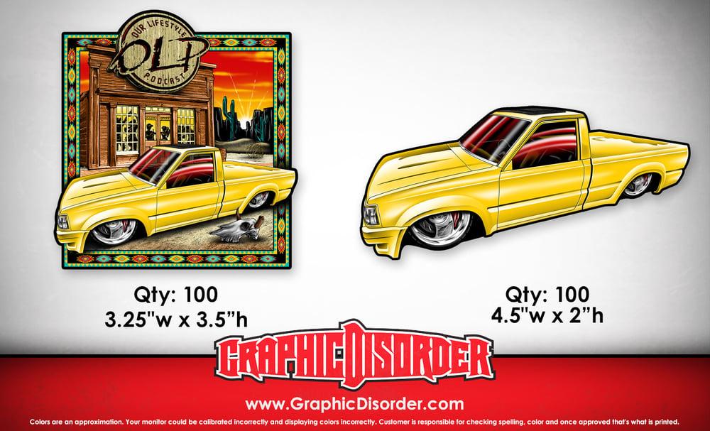 Image of Yellow Mazda - Shirt Artwork Sticker