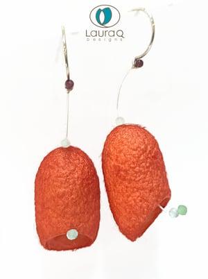 Single Silk cocoon earrings