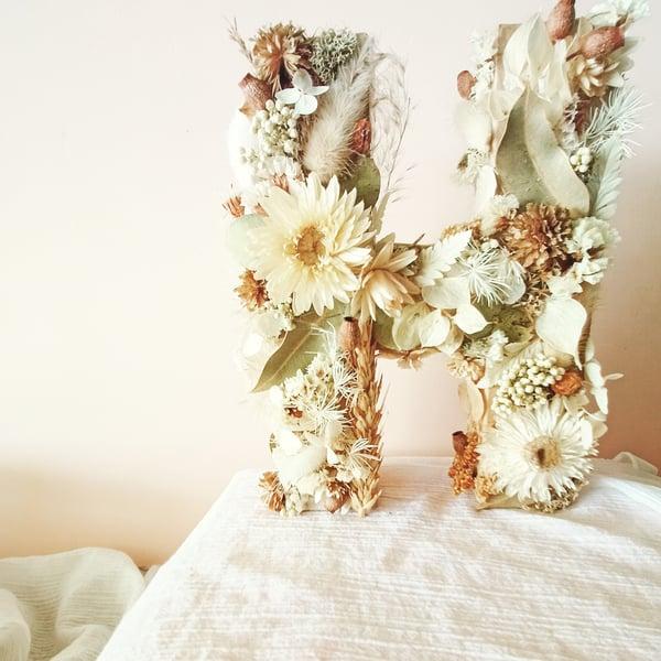 Image of Everlasting floral letter