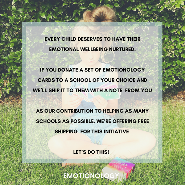 Image of DONATE A SET OF EMOTIONOLOGY CARDS TO A SCHOOL OF YOUR CHOICE AND WE'LL PAY FOR SHIPPING
