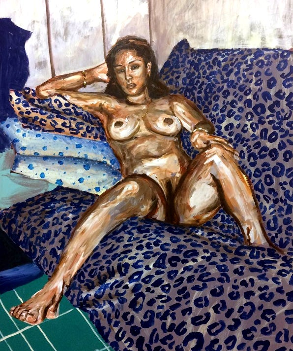 Image of Nude Study (w/Leopard Print)