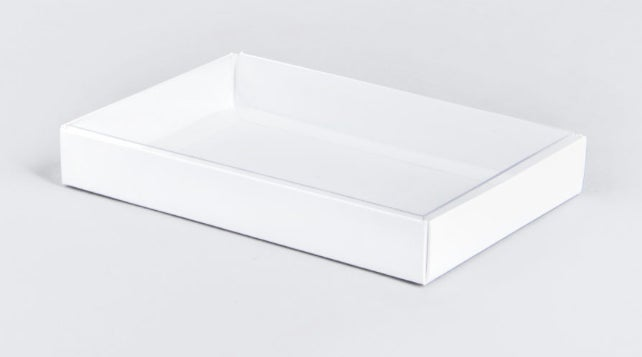 Image of White Base & Clear Lid Gift Box For Prayer Mats