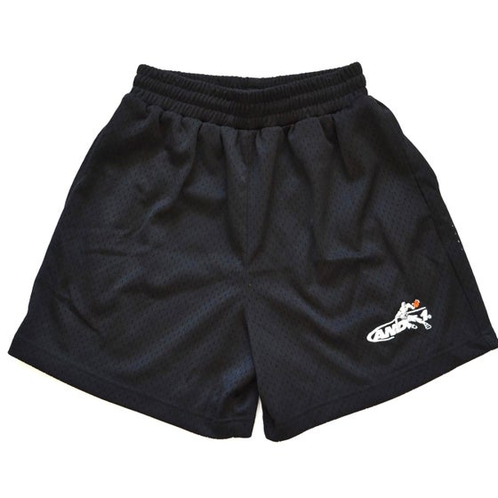 Image of Vintage 1990's And 1 Black Mesh Basketball Shorts Sz.M (Women's)
