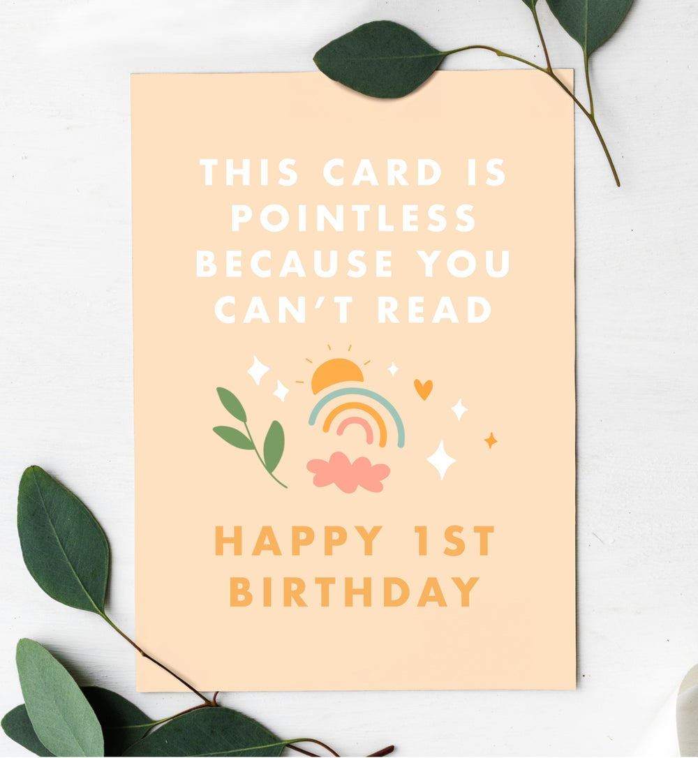 Image of Baby 1st Birthday Card by URGHH Card Co.