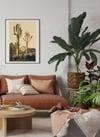 Cereus Giganteus | Retro Desert Print | Cactus Poster | Vintage Desert Landscape