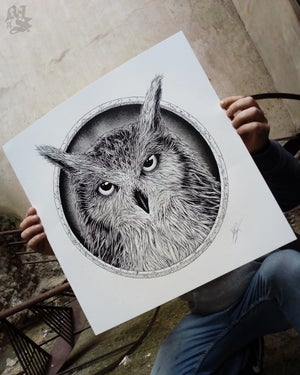 Image of BUBOS<br/> B&W Variant<br/> <small>Limited Edition Screen Print</small>