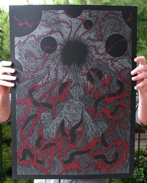 Image of WE ALL DROWN TOGETHER<br/> Blood Variant<br/> <small>Limited Edition Screen Print</small>