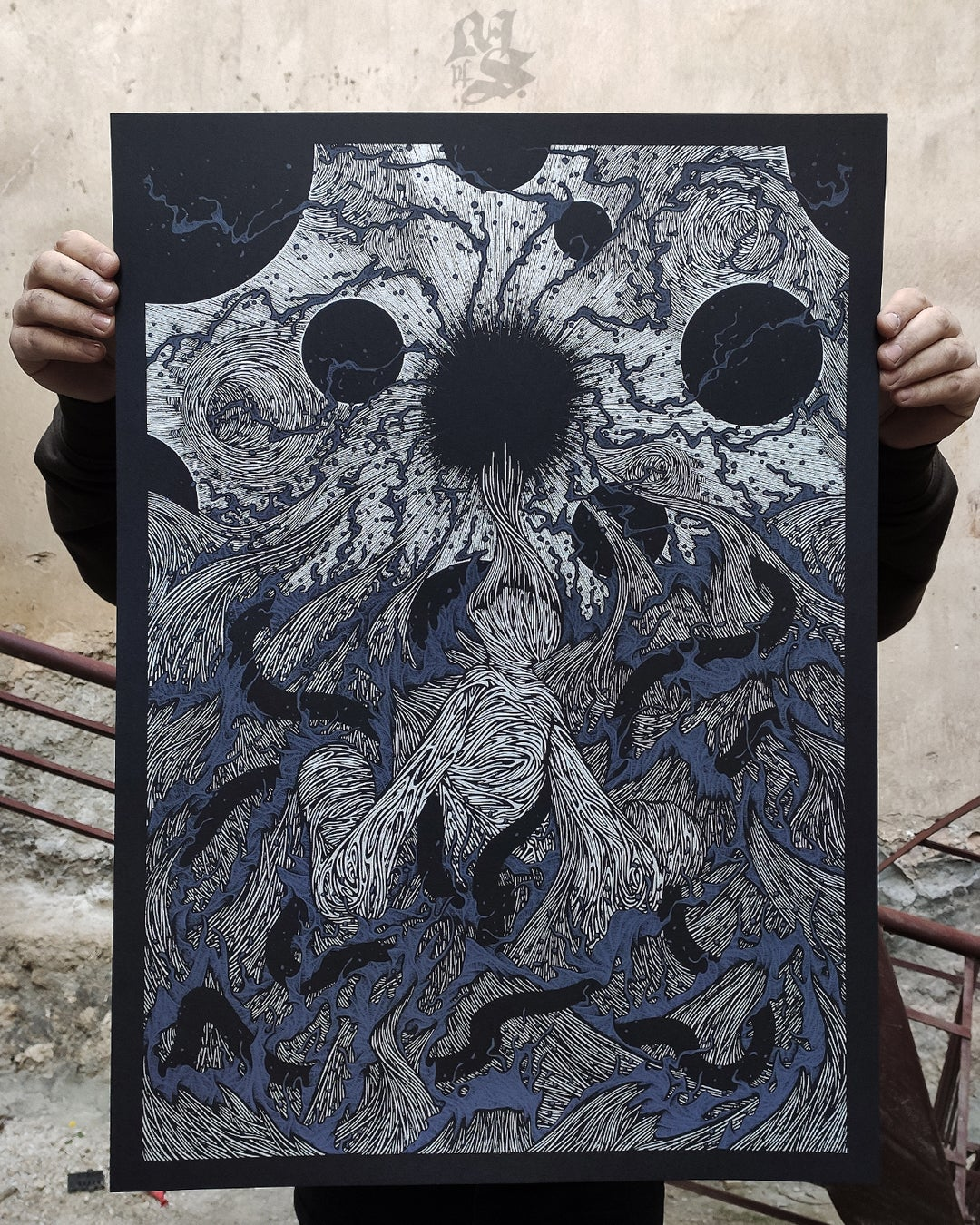 Image of WE ALL DROWN TOGETHER<br/> Silver Variant<br/> <small>Limited Edition Screen Print</small>