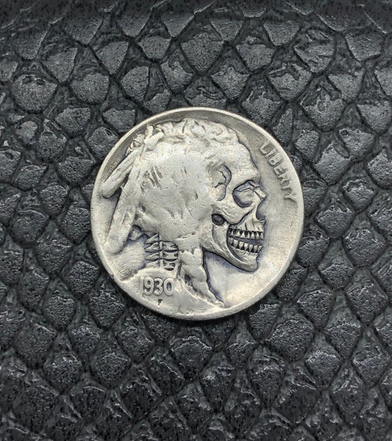 Image of Buffalo nickel skull