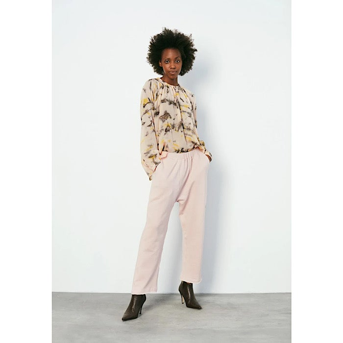 Image of RABENS SALONER LANA LOOPBACK PANTS RAW ROSE