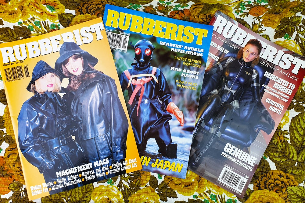 VINTAGE FETISH  MAG LOT: RUBBERIST ISSUES 26, 28, 30