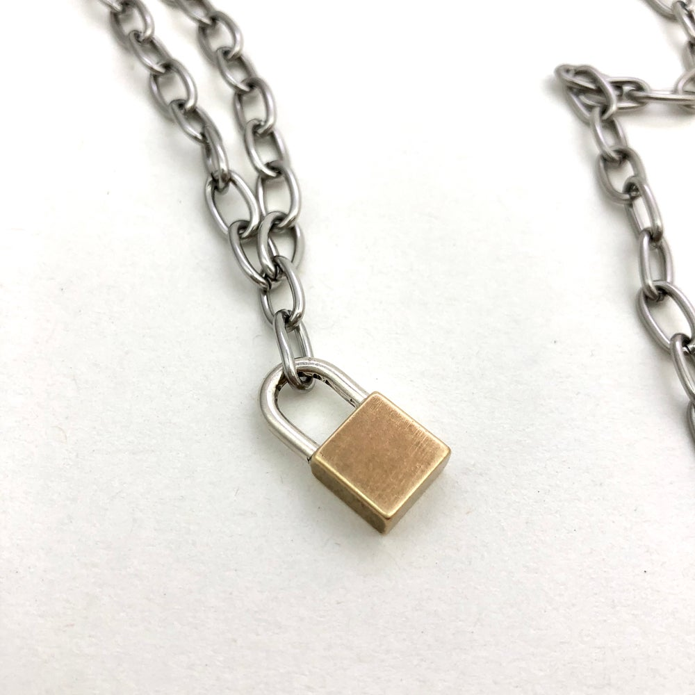 Image of Big lock necklace