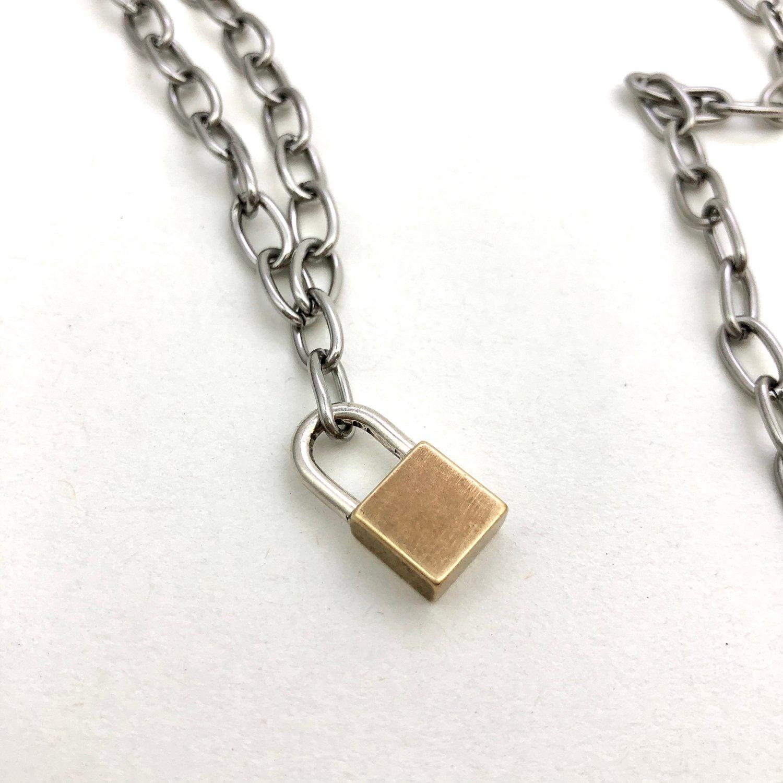 Image of Big lock necklace