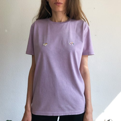 Image of Sunny nips t-shirt no.3 // hand embroidered organic cotton t-shirt, available in ALL sizes