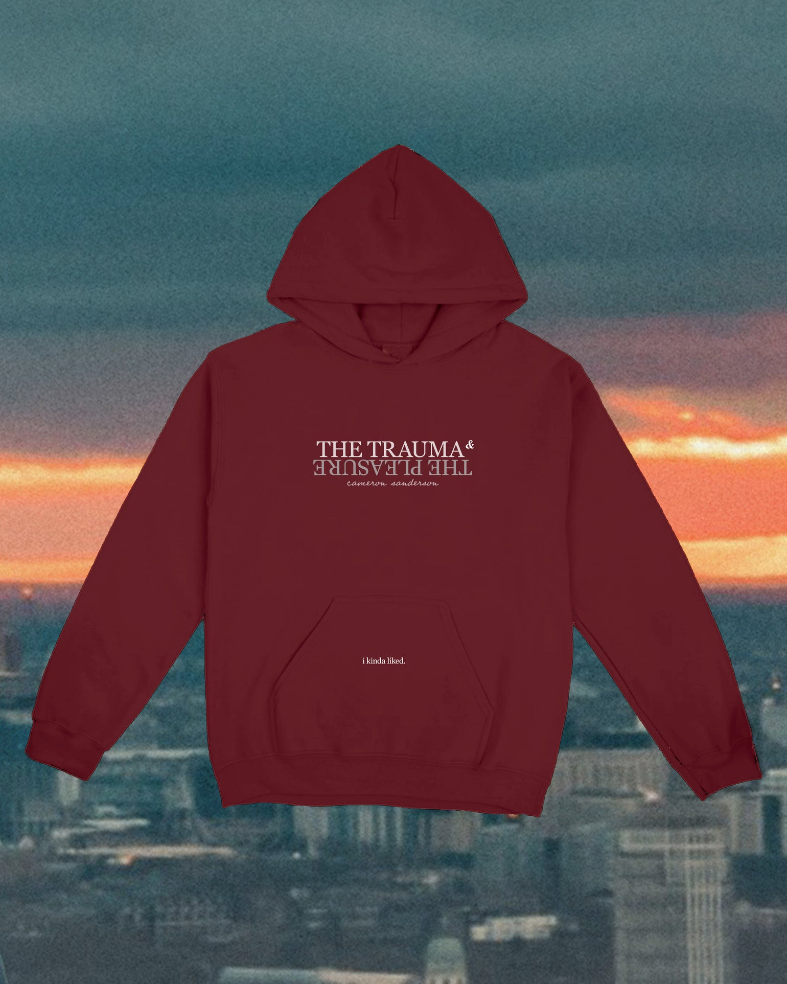 Image of The Trauma and The Pleasure: Burgundy Hoodie