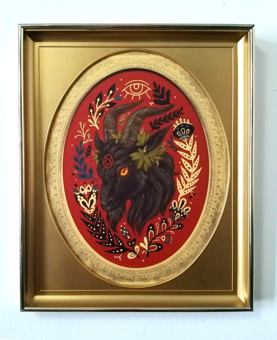 Image of Guide Thy Hand in gold inset frame