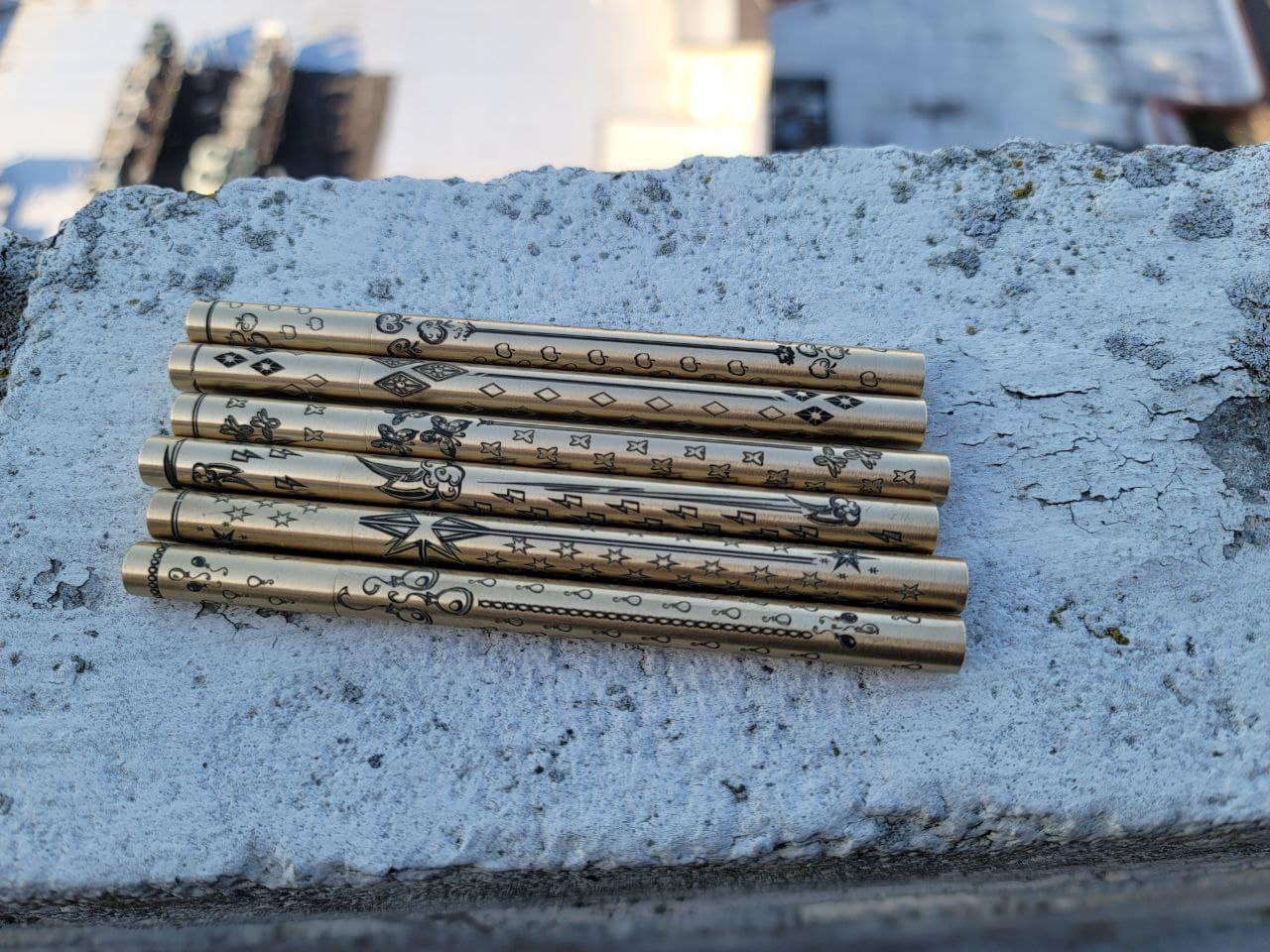Brass Pen - Laser Etched
