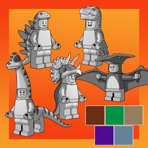 Image of DINO DUDES Minifigures! EXTREMELY LIMITED SUPPLY!