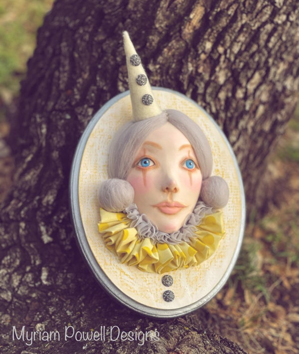 Image of Jeanette- Art Doll Head Plaque - Reserved for Leah
