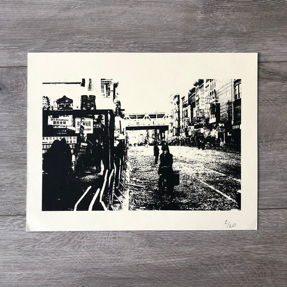 "Image of ""Chinatown"" Silkscreen Print"