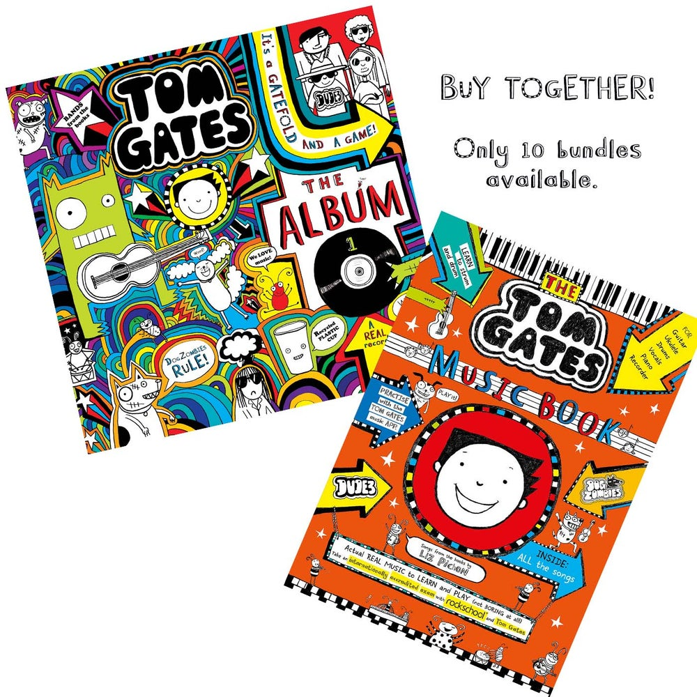 Image of Tom Gates The Album AND The Music Book (Signed by Liz Pichon)