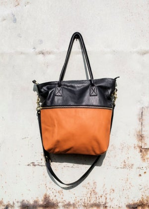 Image of Leather Tote Bag - with shoulder strap - more colours available