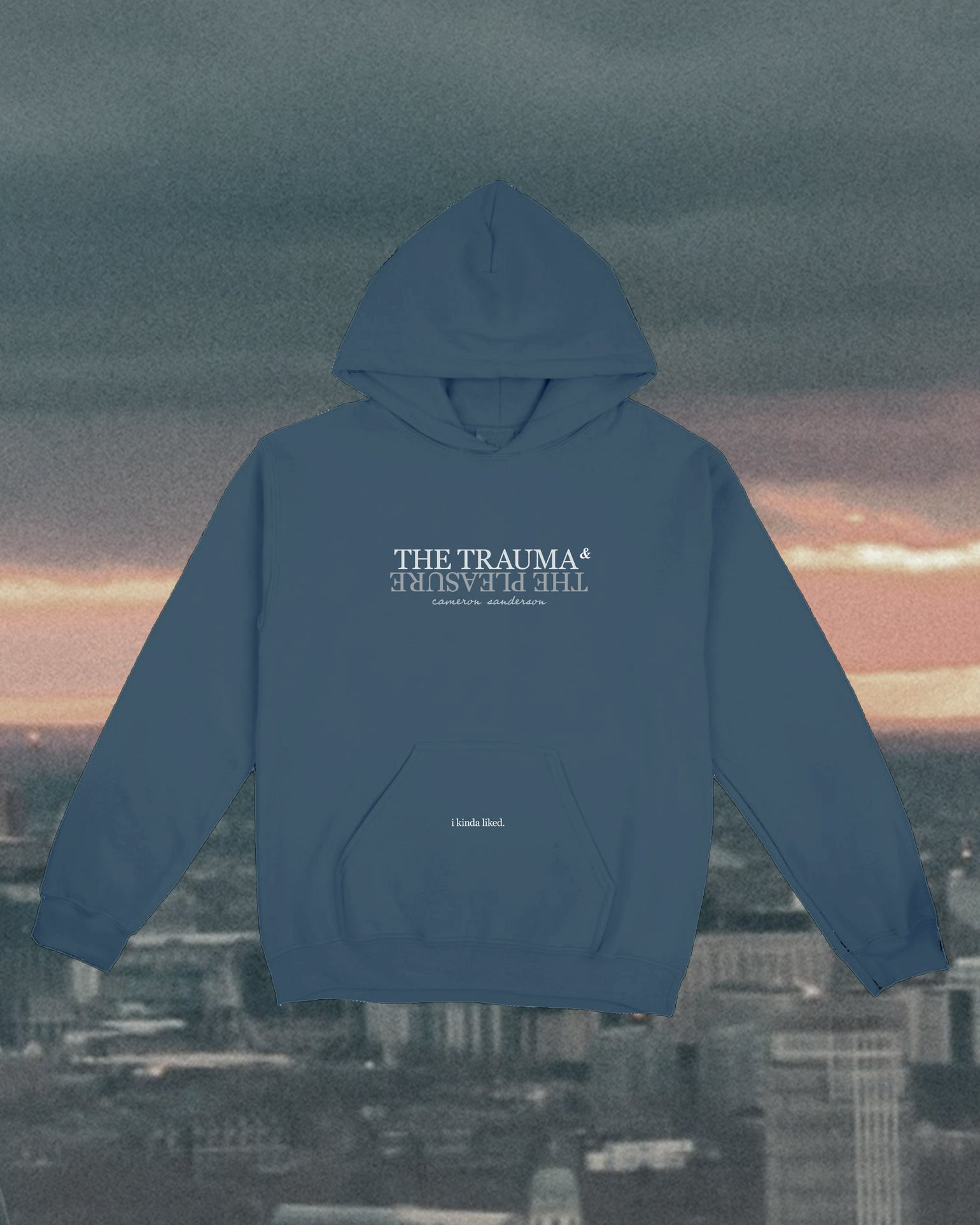 Image of The Trauma and The Pleasure: Blue Hoodie