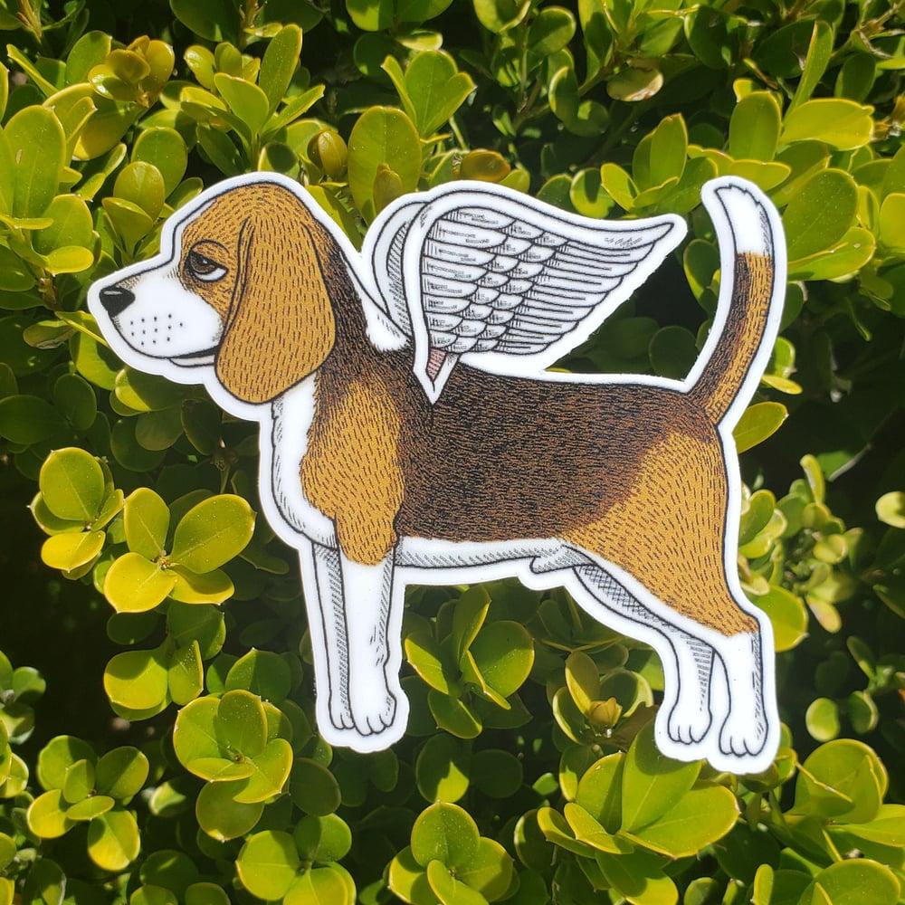 """Flying Beagle 3"""" Vinyl Sticker"""