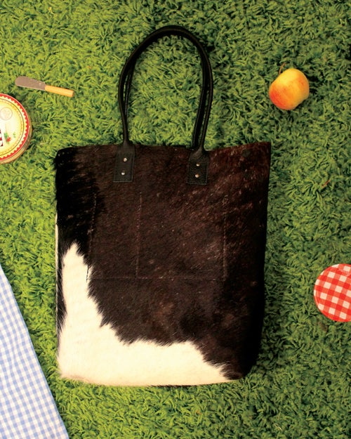 Image of Tall Hairy Cowhide Tote 2
