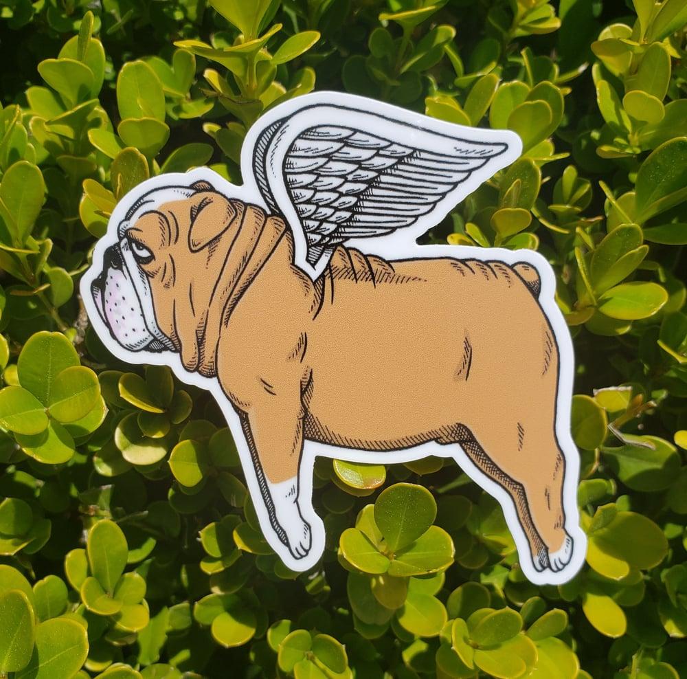 """Flying Bulldog 3"""" Vinyl Sticker"""
