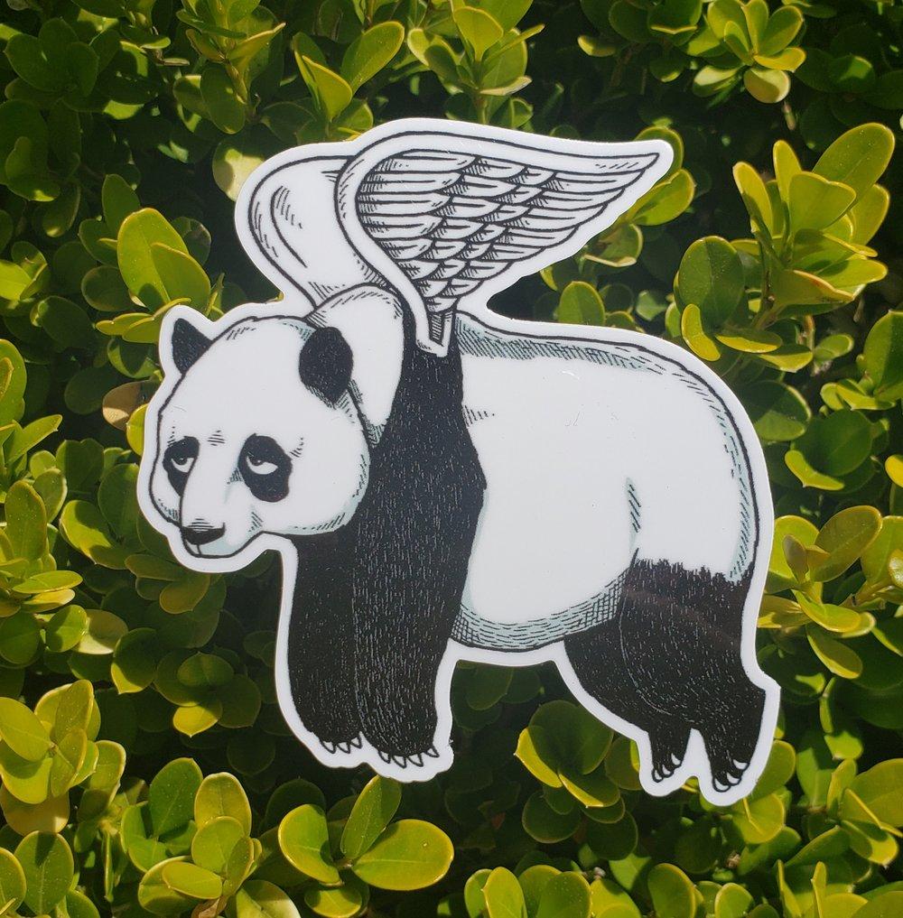 """Flying Panda 3"""" Vinyl Sticker"""