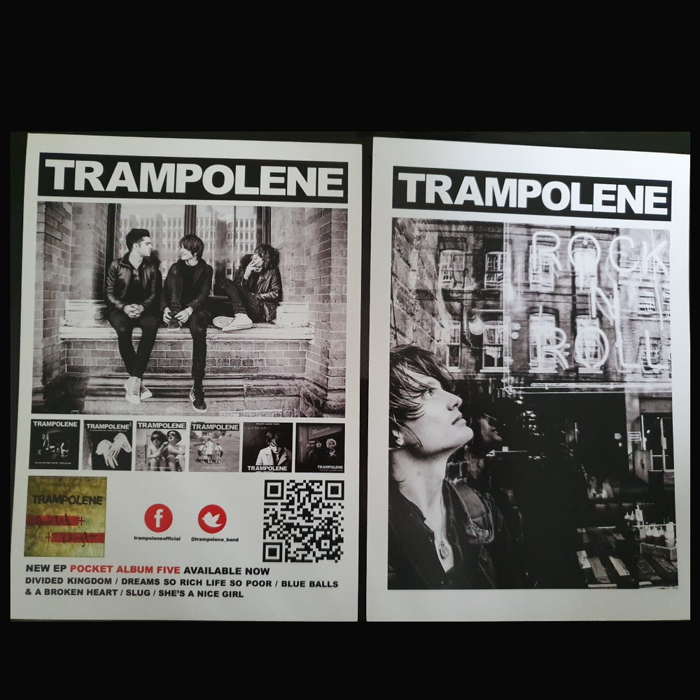 Image of TRAMPOLENE double sided A5 mini poster/flyer from 2016