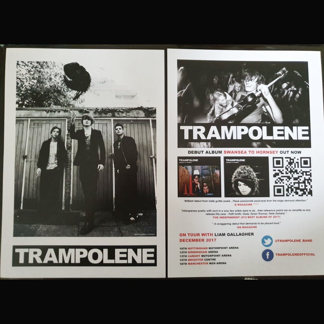 Image of TRAMPOLENE double sided A5 mini poster/flyer from 2017
