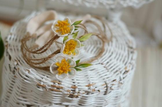 Image of Flora headband ( white)